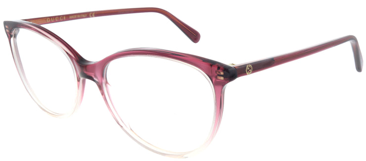 Gucci GG 0550O 003 Round Plastic Burgundy/ Red Eyeglasses with Demo Lens