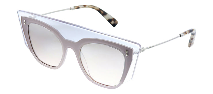 Valentino VA 4035 50888Z Square Plastic Pink Sunglasses with Brown Mirror Lens