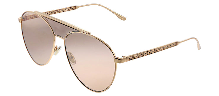 Jimmy Choo JC Ave BKU 2S Aviator Metal Pink Sunglasses with Red Lens