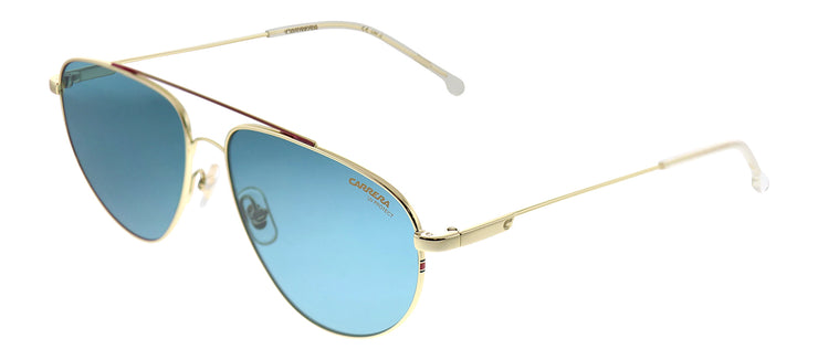 Carrera CA Carrera2014T/S J5G KU Pilot Metal Gold Sunglasses with Blue Lens
