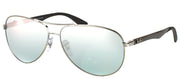 Ray-Ban RB 8313 004/K6 Aviator Metal Ruthenium/ Gunmetal Sunglasses with Silver Polarized Lens
