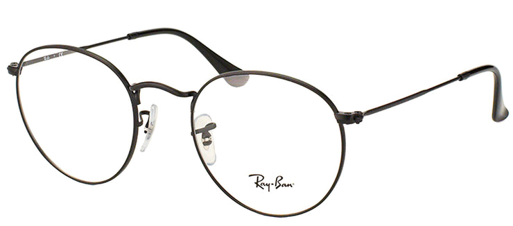Ray-Ban RX 3447V 2503 Round Metal Black Eyeglasses with Demo Lens