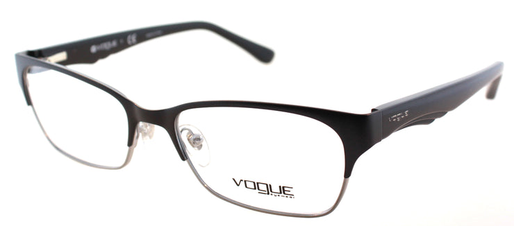 Vogue Eyewear VO 3918 352S Rectangle Metal Black Eyeglasses with Demo Lens