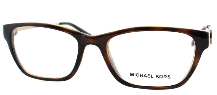 Michael Kors MK 8005 3006 Rectangle Plastic Tortoise/ Havana Eyeglasses with Demo Lens