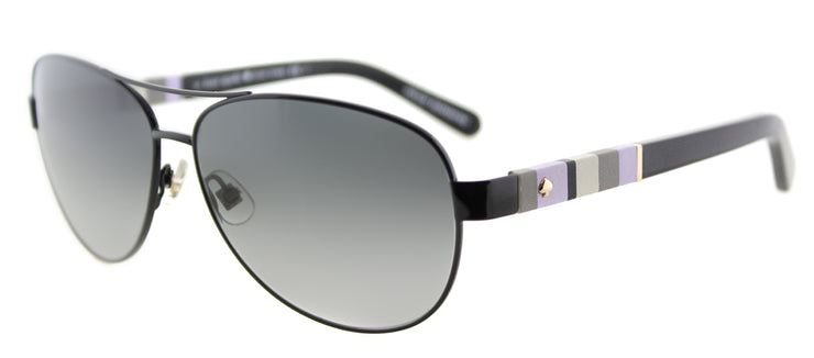 Kate Spade KS Dalia W92 Aviator Metal Black Sunglasses with Grey Gradient Lens