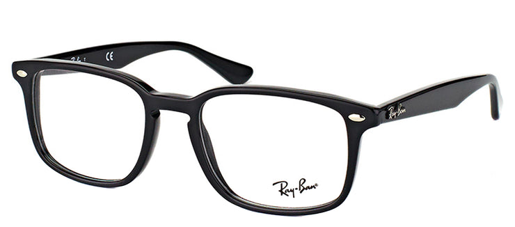 Ray-Ban RX 5353 2000 Square Plastic Black Eyeglasses with Demo Lens
