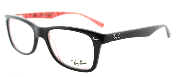 Ray-Ban RX 5228 2479 Rectangle Plastic Black Eyeglasses with Demo Lens