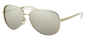 Michael Kors Chelsea MK 5004 1001Z3 Aviator Metal Silver Sunglasses with Silver Mirrored Polarized Lens
