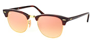 Ray-Ban RB 3016 990/7O Clubmaster Plastic Tortoise/ Havana Sunglasses with Pink Flash Gradient Lens