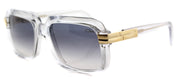 Cazal 607 Square Plastic Clear Sunglasses with Grey Gradient Lens