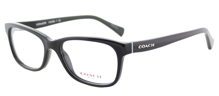 Coach HC 6089 5002 Rectangle Plastic Black Eyeglasses with Demo Lens
