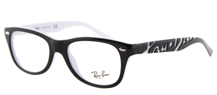 Ray-Ban Junior RY 1544 3579 Rectangle Plastic Black Eyeglasses with Demo Lens