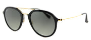 Ray-Ban RB 4253 601/71 Square Plastic Black Sunglasses with Grey Gradient Lens