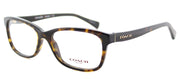 Coach HC 6089 5120 Rectangle Plastic Tortoise/ Havana Eyeglasses with Demo Lens