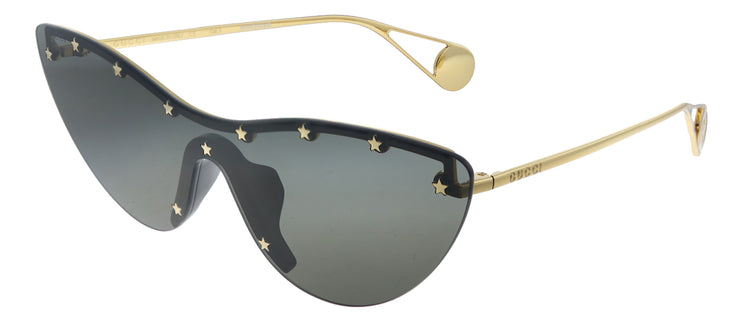 Gucci GG 0666S 001 Cat-Eye Metal Gold Sunglasses with Grey Lens