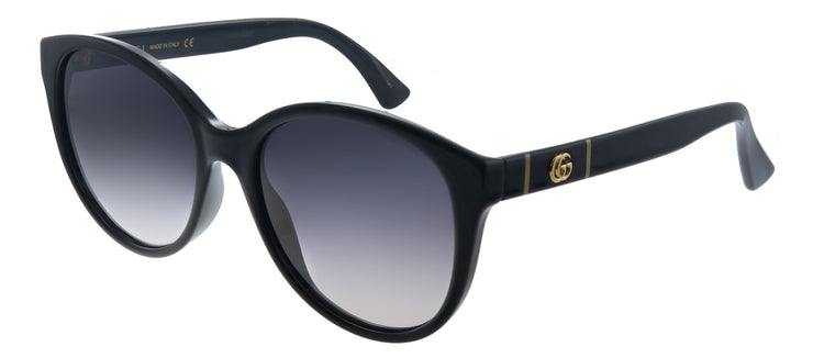 Gucci GG 0631S 001 Round Plastic Black Sunglasses with Grey Gradient Lens