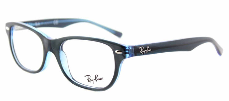 Ray-Ban Junior RY 1555 3667 Rectangle Plastic Blue Eyeglasses with Demo Lens