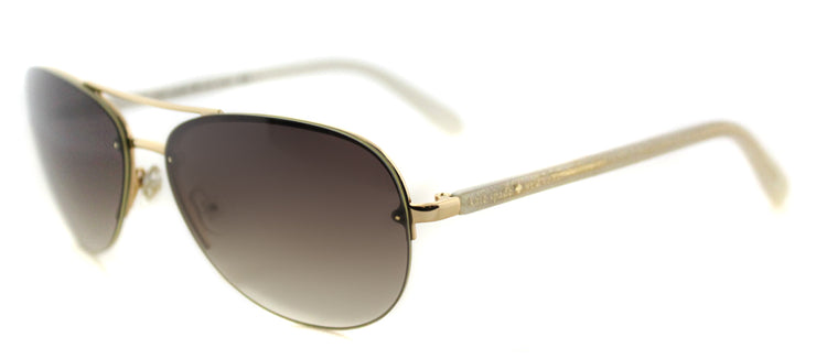 Kate Spade KS Beryl AU2 Aviator Metal Gold Sunglasses with Brown Gradient Lens