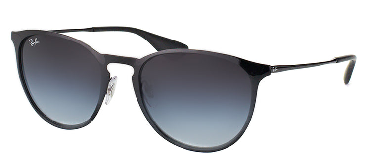 Ray-Ban RB 3539 002/8G Round Metal Black Sunglasses with Grey Gradient Lens