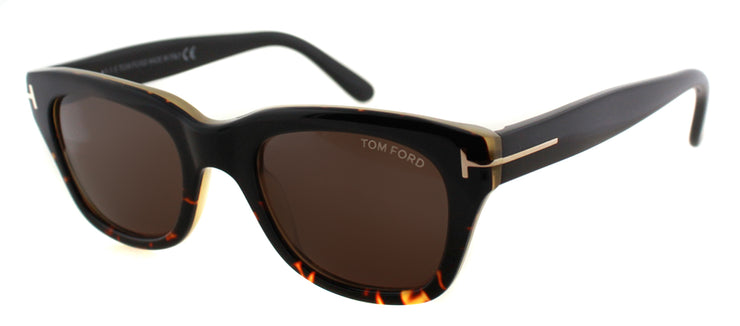Tom Ford TF 237 05J Rectangle Plastic Black Sunglasses with Brown Lens