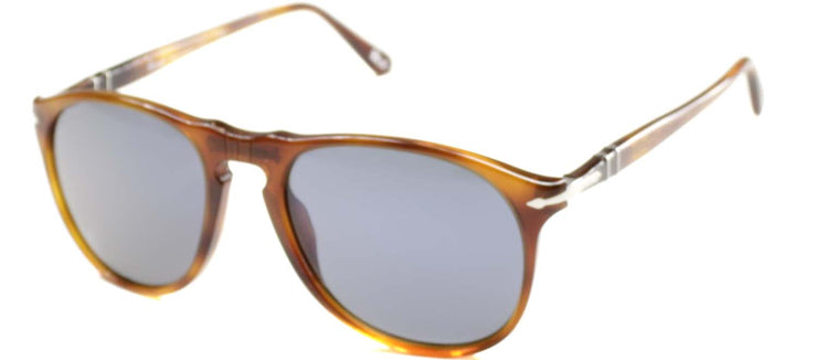 Persol PO 9649 96/56 Oval Plastic Tortoise/ Havana Sunglasses with Blue Lens