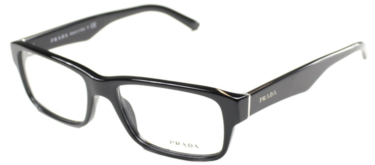 Prada PR 16MV 1AB1O1 Rectangle Plastic Black Eyeglasses with Demo Lens