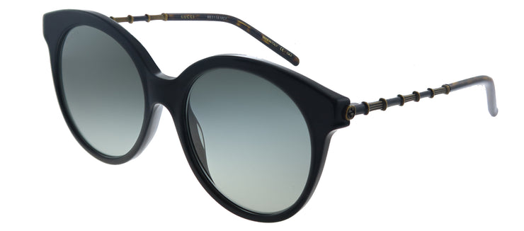 Gucci GG 0653S 001 Cat-Eye Plastic Black Sunglasses with Grey Gradient Lens