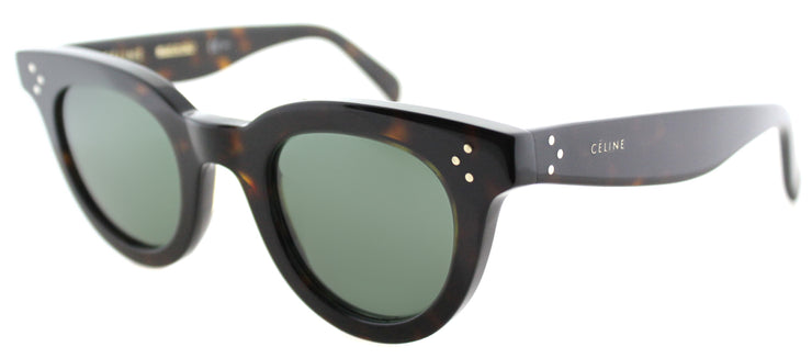 Celine CL 41375 086 Fashion Plastic Tortoise/ Havana Sunglasses with Grey Green Lens