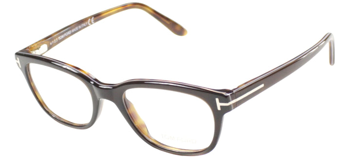 Tom Ford FT 5207 047 Square Plastic Brown Eyeglasses with Demo Lens