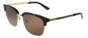 Gucci GG 0697S 002 Square Plastic Havana Sunglasses with Brown Lens
