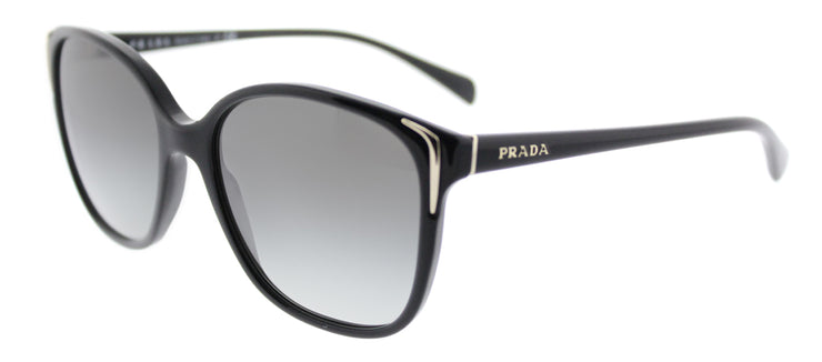 Prada PR 01OS 1AB3M1 Square Plastic Black Sunglasses with Grey Gradient Lens