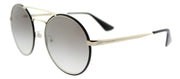 Prada PR 51SS 1AB0A7 Round Metal Gold Sunglasses with Grey Gradient Lens
