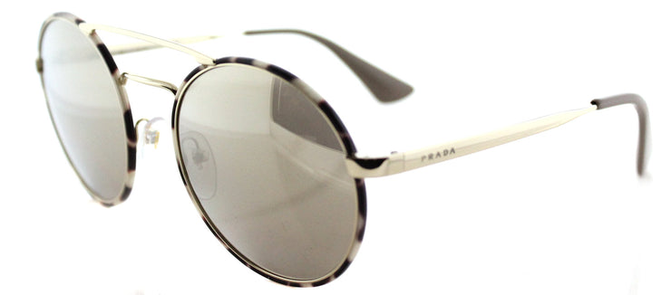 Prada PR 51SS UAO1C0 Round Metal Gold Sunglasses with Gold Mirror Lens