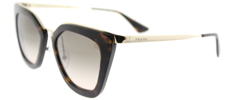 Prada PR 53SS 2AU3D0 Cat-Eye Plastic Tortoise/ Havana Sunglasses with Brown Gradient Lens