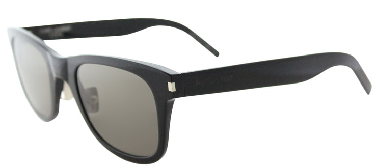 Saint Laurent SL 51 SLIM 001 Rectangle Plastic Black Sunglasses with Grey Crystal Lens