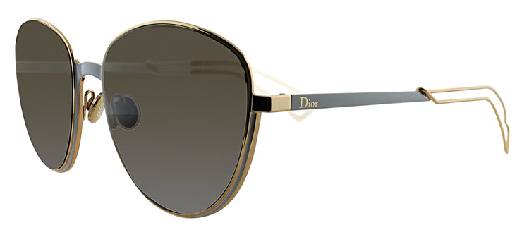 Dior CD ULTRADIORS RCZ Round Metal Blue Sunglasses with Brown Lens