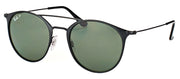 Ray-Ban RB 3546 186/9A Round Metal Black Sunglasses with Green Polarized Lens