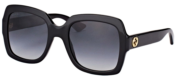 Gucci GG 0036S 001 Square Plastic Black Sunglasses with Grey Gradient Lens