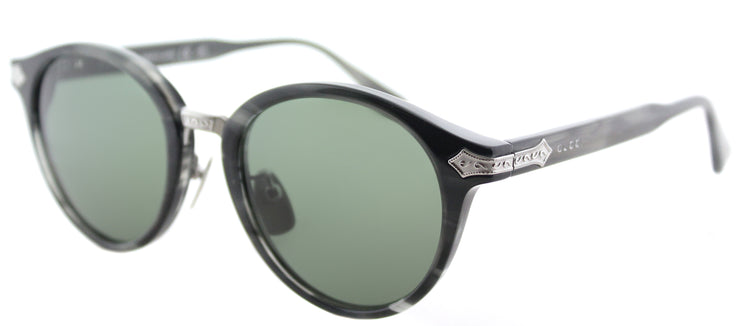 Gucci GG 0066S 003 Round Plastic Tortoise/ Havana Sunglasses with Green Lens