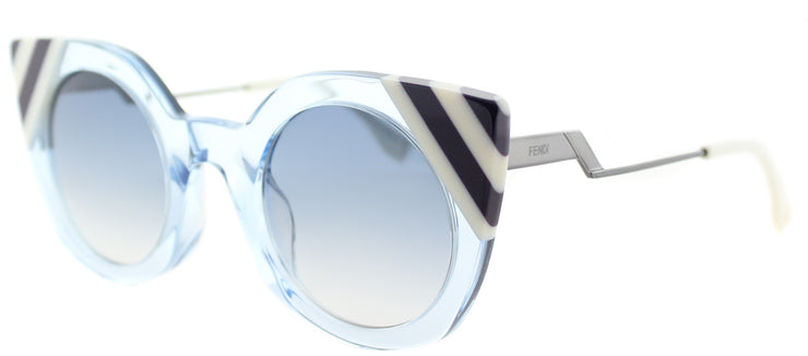 Fendi FF 0240 MVU Cat-Eye Plastic Blue Sunglasses with Dark Blue Gradient Lens