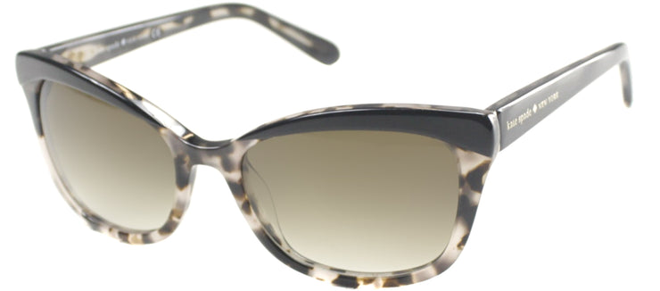 Kate Spade KS Amara JAZ Cat-Eye Plastic Black Sunglasses with Brown Gradient Lens