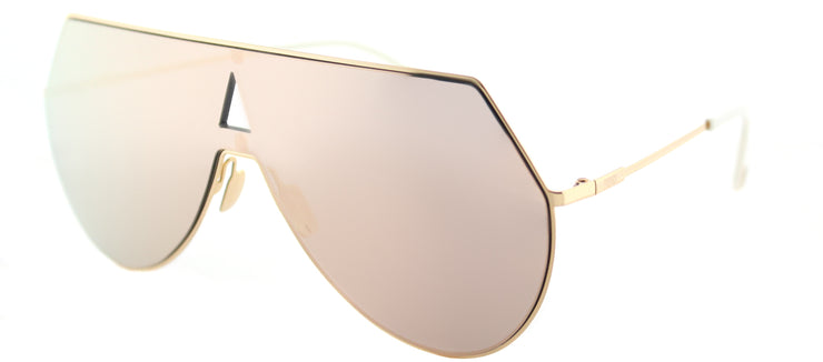 Fendi FF 0193 000 0J Shield Metal Gold Sunglasses with Gold Mirror Lens