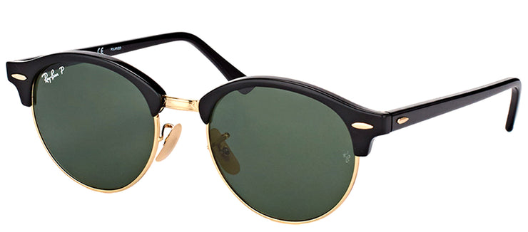 Ray-Ban RB 4246 901/58 Clubmaster Plastic Black Sunglasses with Green Polarized Lens