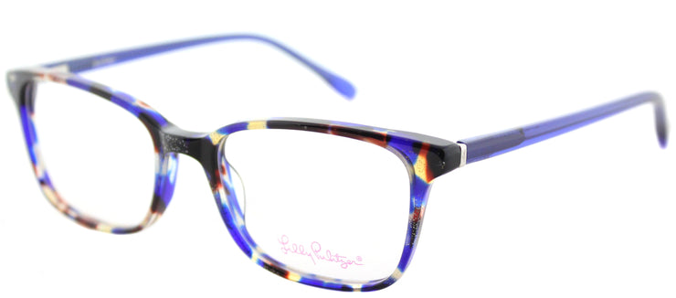 Lilly Pulitzer LP Witherbee IN Rectangle Plastic Purple Eyeglasses with Demo Lens