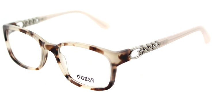 Guess GU 2558 055 Rectangle Plastic Pink Eyeglasses with Demo Lens