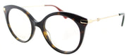 Gucci GG 0109O 002 Cat-Eye Plastic Tortoise/ Havana Eyeglasses with Demo Lens