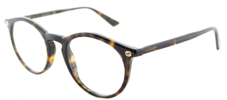 Gucci GG 0121O 002 Round Plastic Tortoise/ Havana Eyeglasses with Demo Lens