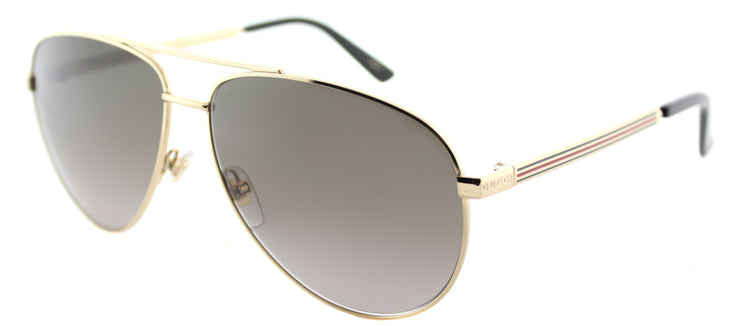 Gucci GG 0137S 001 Aviator Metal Gold Sunglasses with Brown Gradient Lens