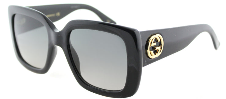 Gucci GG 0141S 001 Square Plastic Black Sunglasses with Grey Gradient Lens