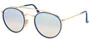 Ray-Ban RB 3647N 001/9U Round Metal Gold Sunglasses with Silver Mirror Lens
